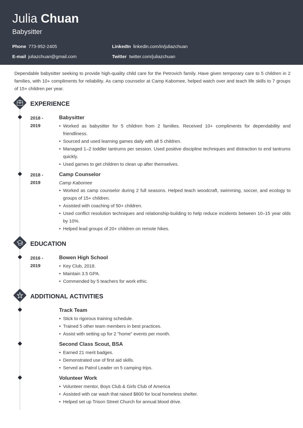 resume volunteering template diamond uk