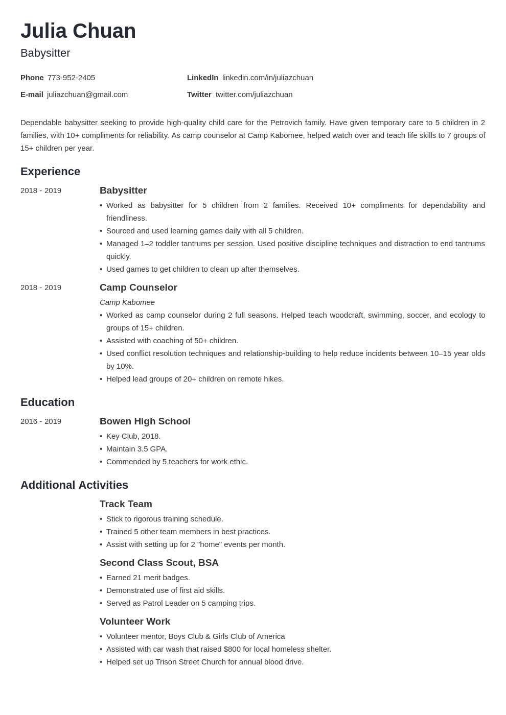 resume volunteering template minimo uk