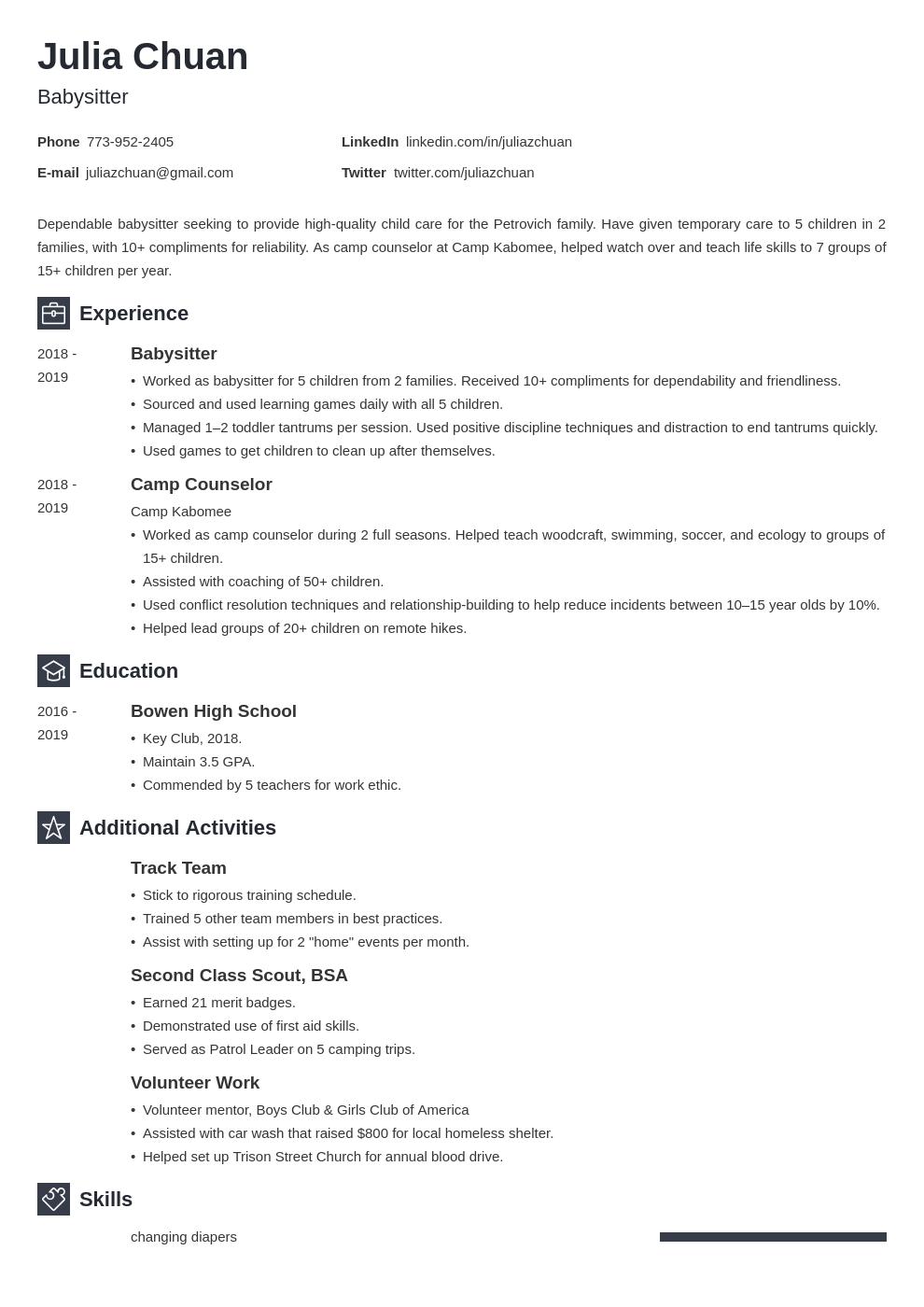 resume volunteering template newcast