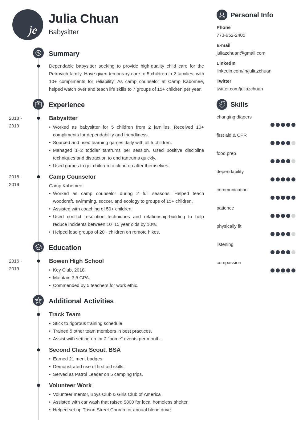 resume volunteering template primo