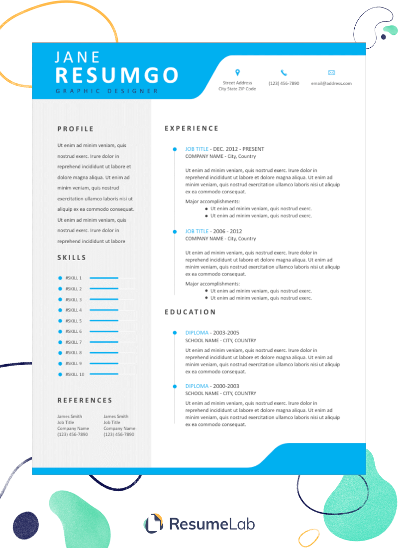 50 free ms word resume  cv templates to download in 2021