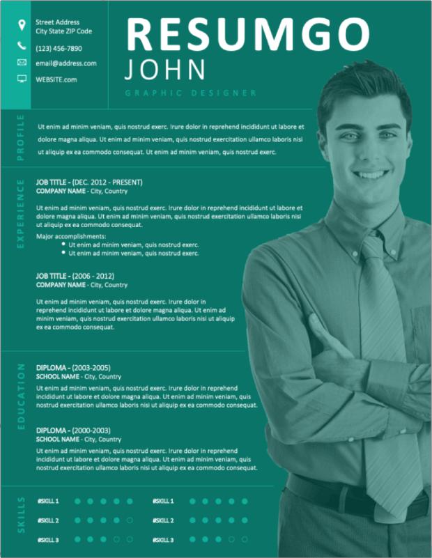 11 Template Resume atau CV Pekerja Kreatif DownloadGratis untuk Microsoft Word