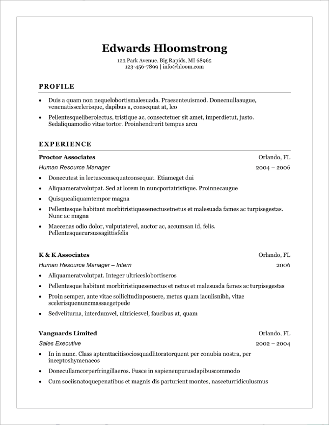 Does Word Have A Resume Template from cdn-images.resumelab.com