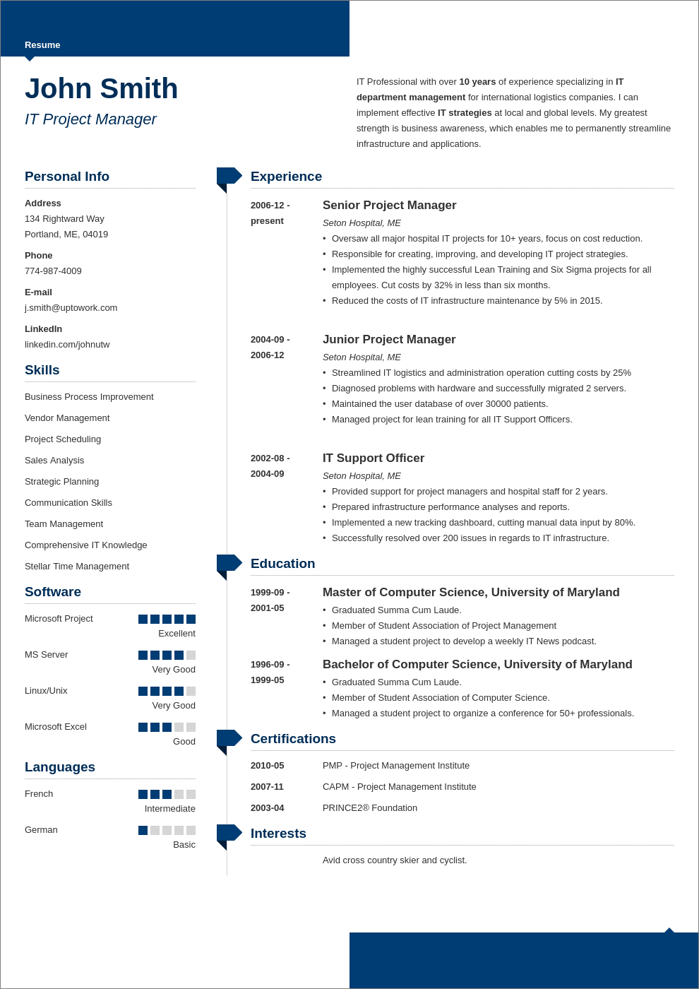 Modern Resume Template   Free Online Download