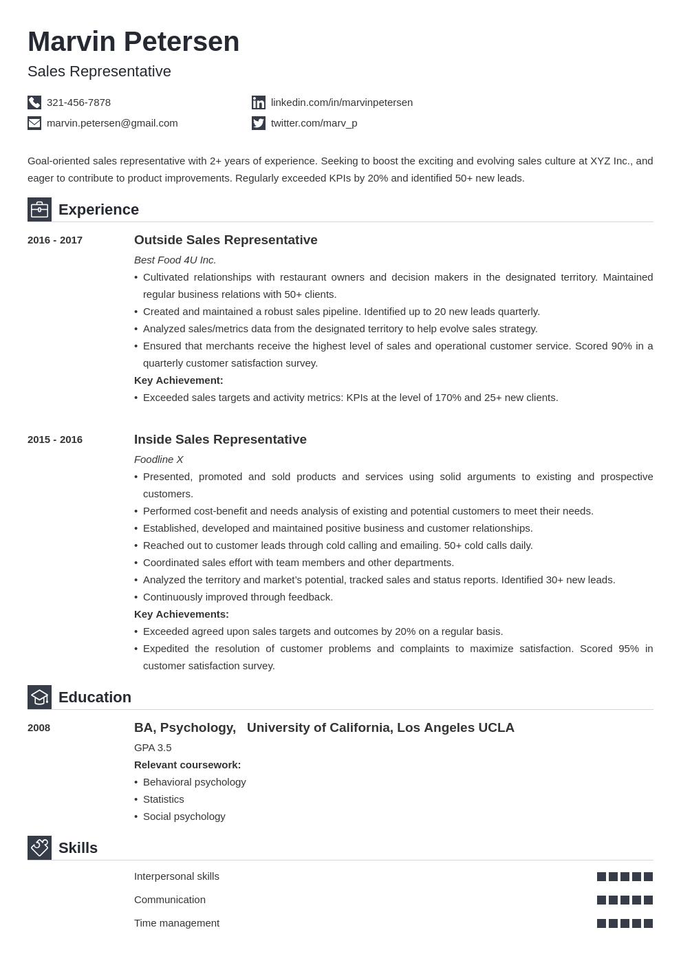 sales representative template iconic uk