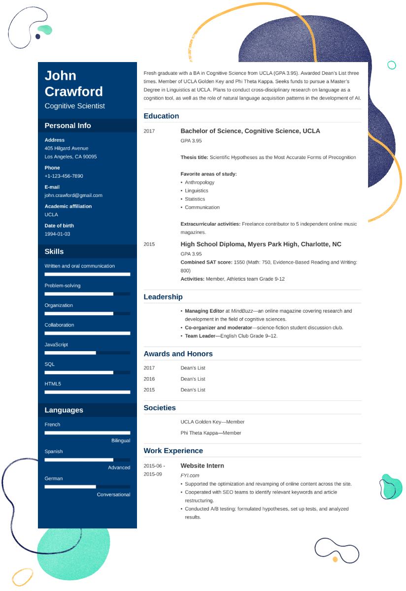 Scholarship Resume Template: 25+ Examples and Writing Tips