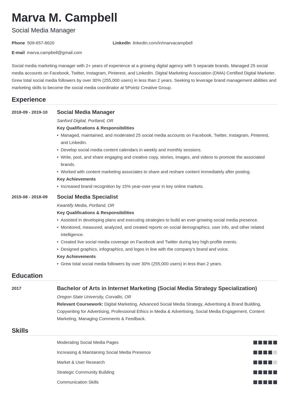 social media template nanica