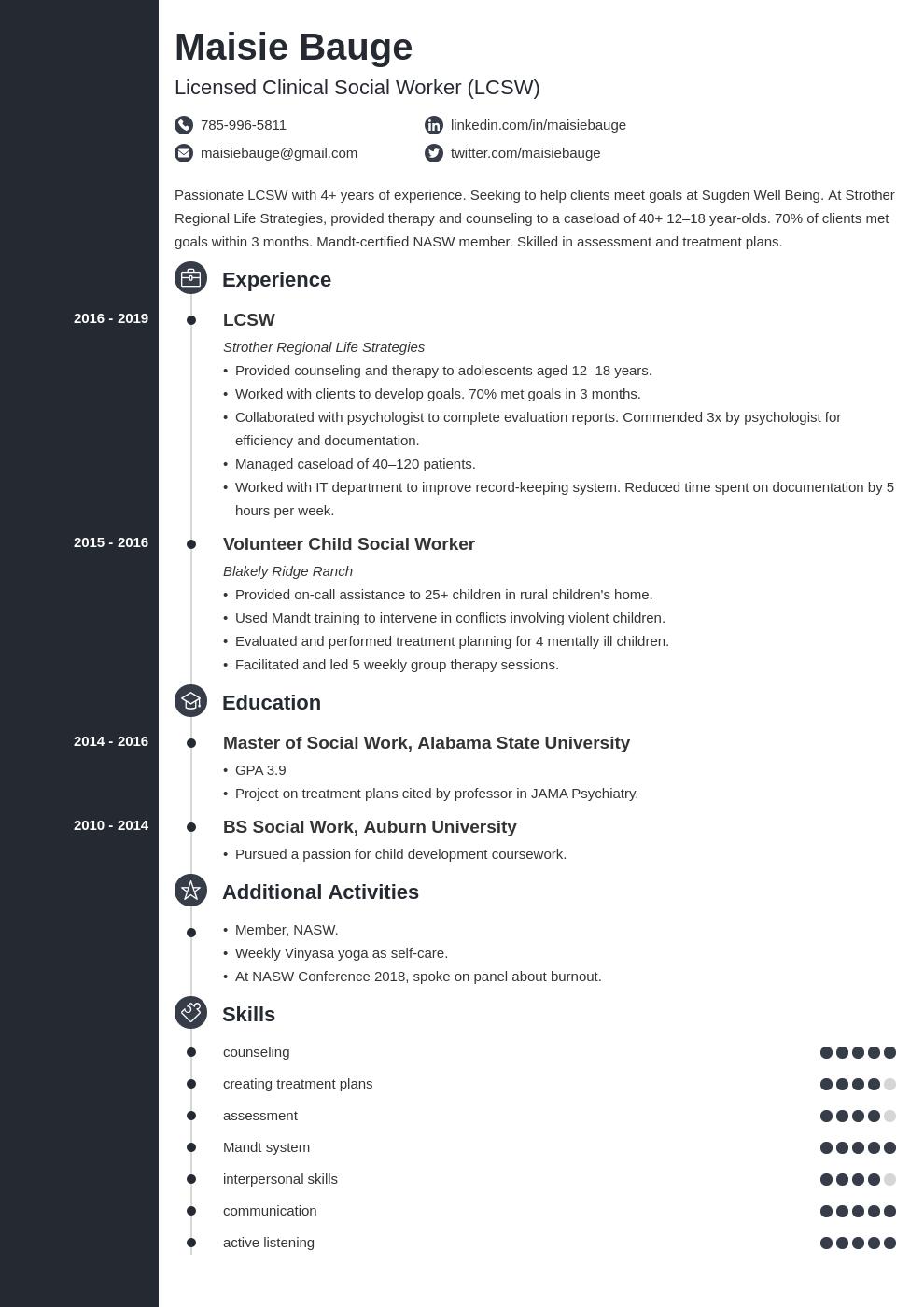 social work template concept
