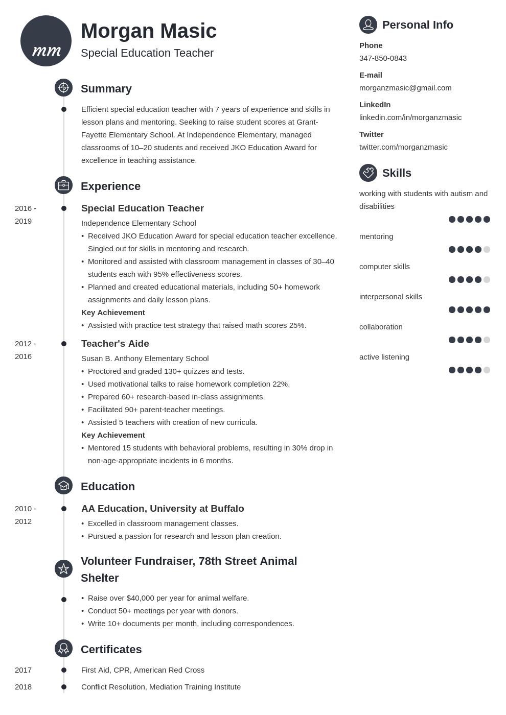 special education teacher template primo uk