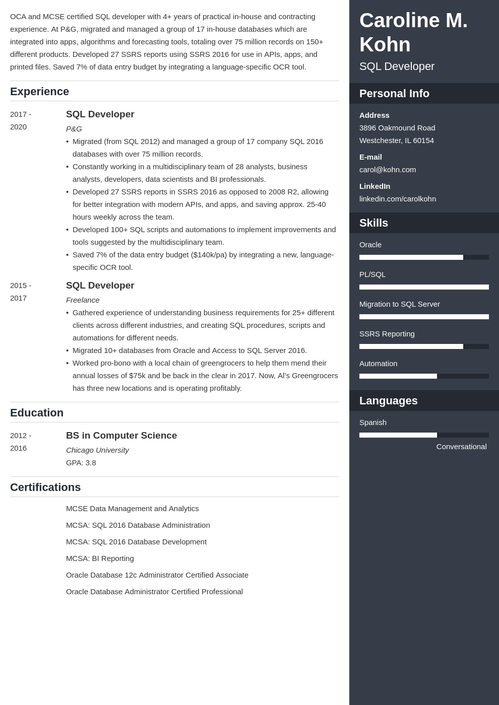 sql developer template enfold uk