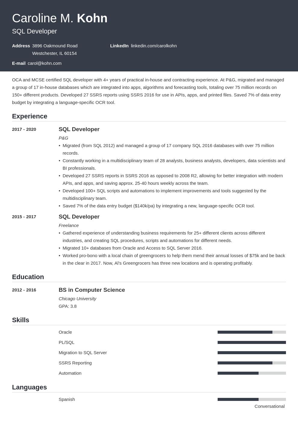 sql developer template influx uk