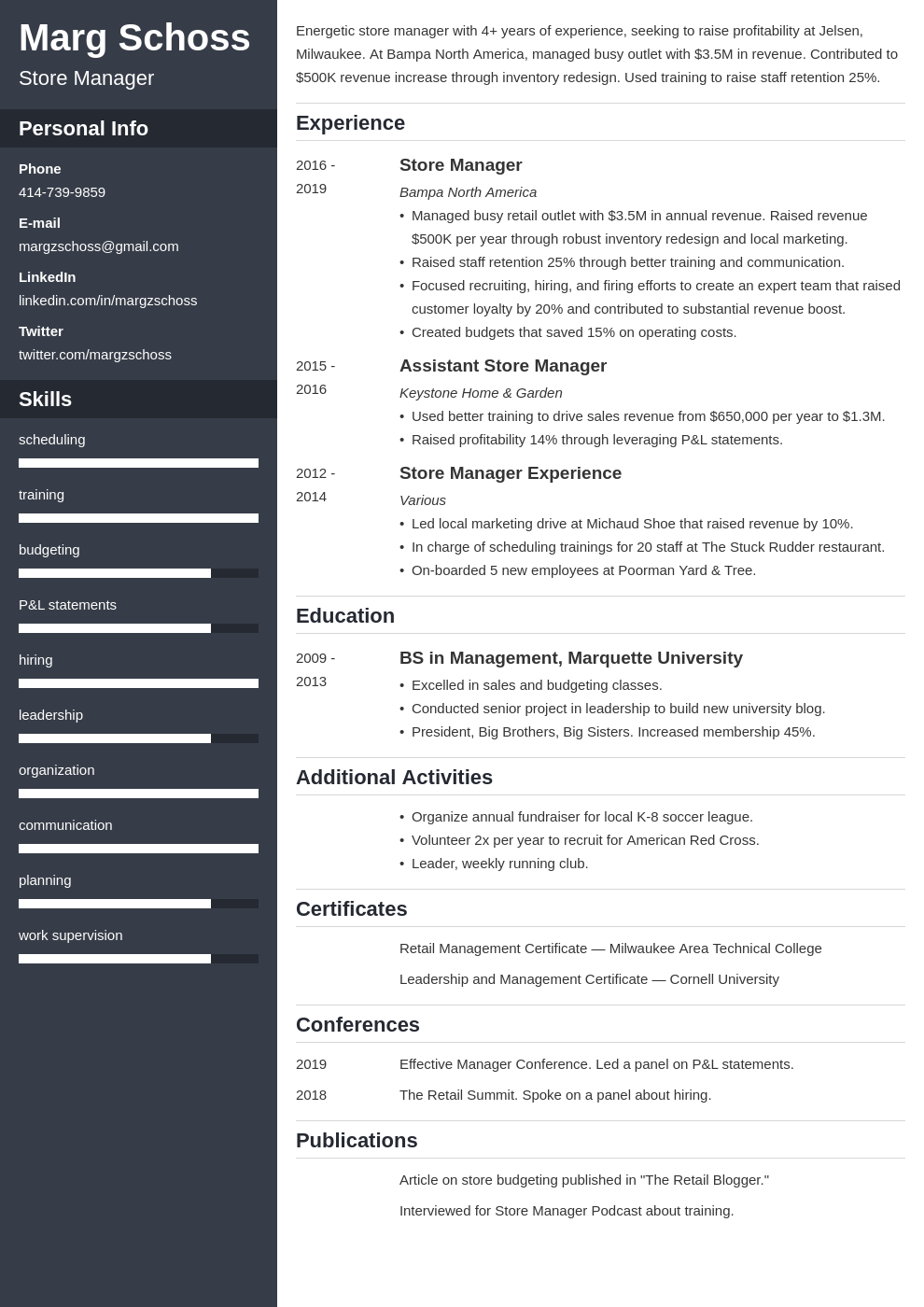 store manager template cascade uk