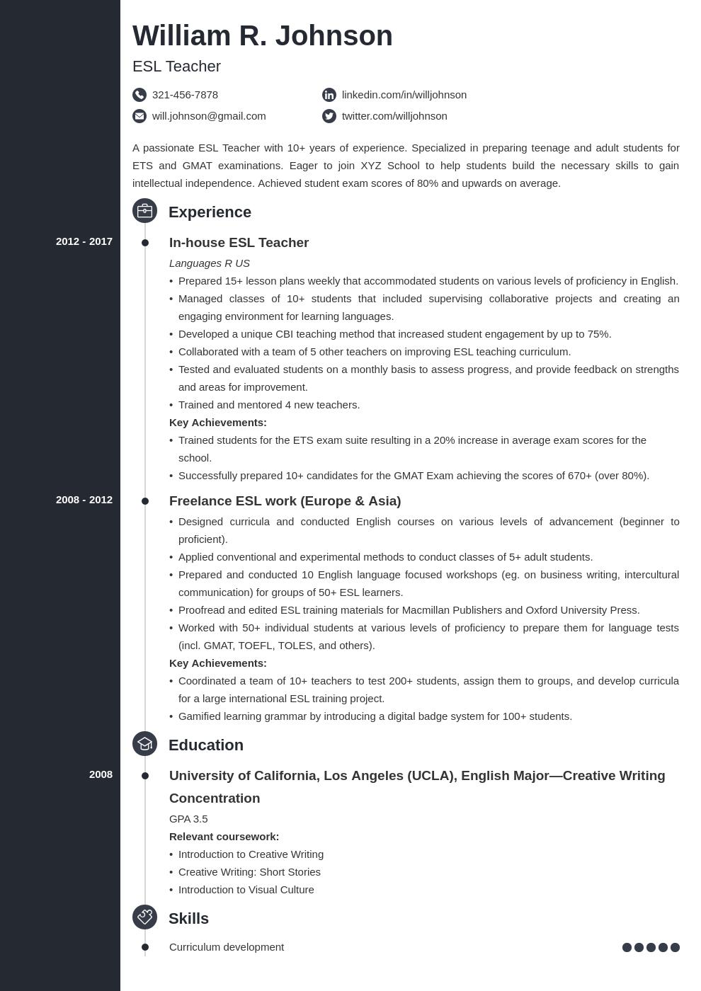 teacher template concept uk