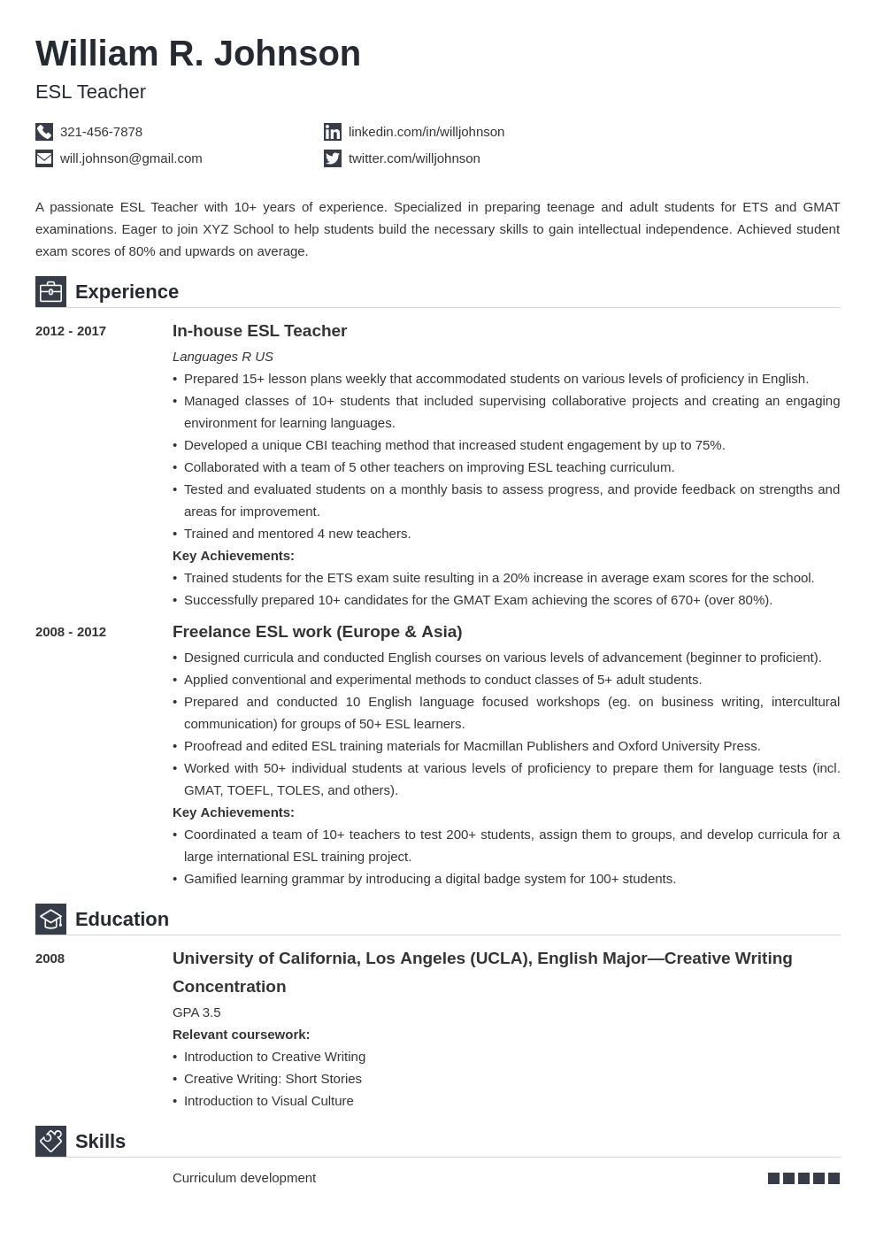 teacher template iconic uk