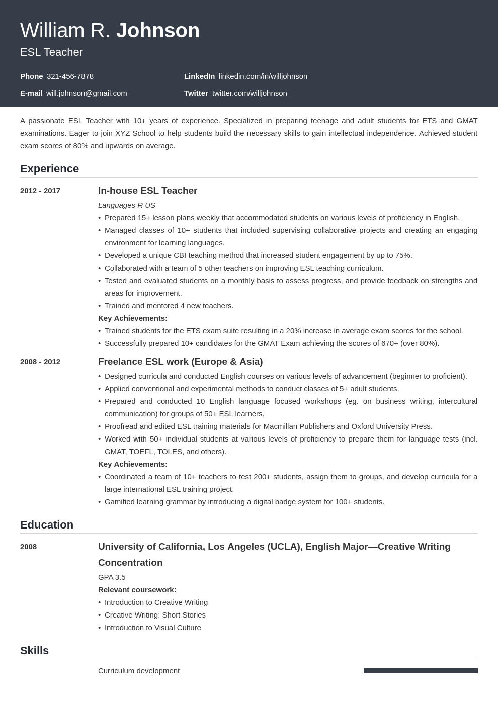 teacher template influx