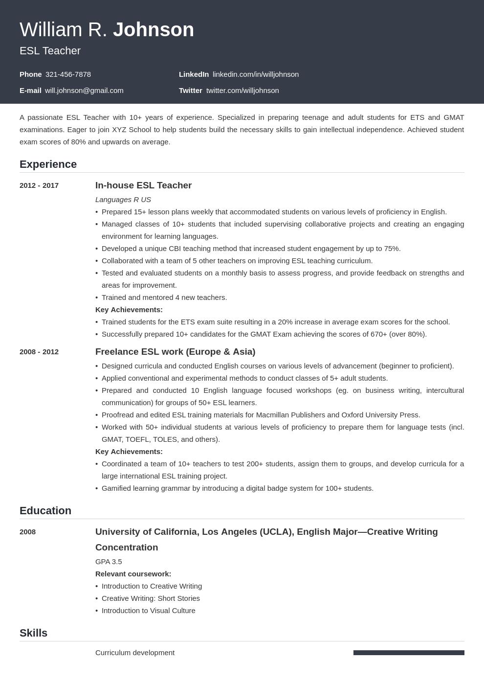 teacher template influx uk