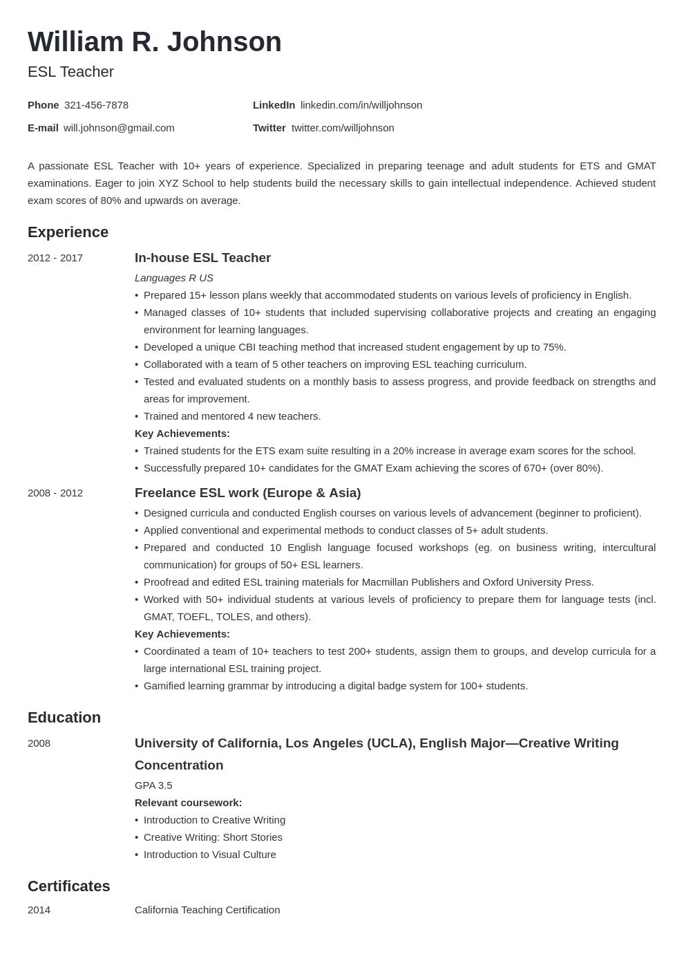 teacher template minimo uk