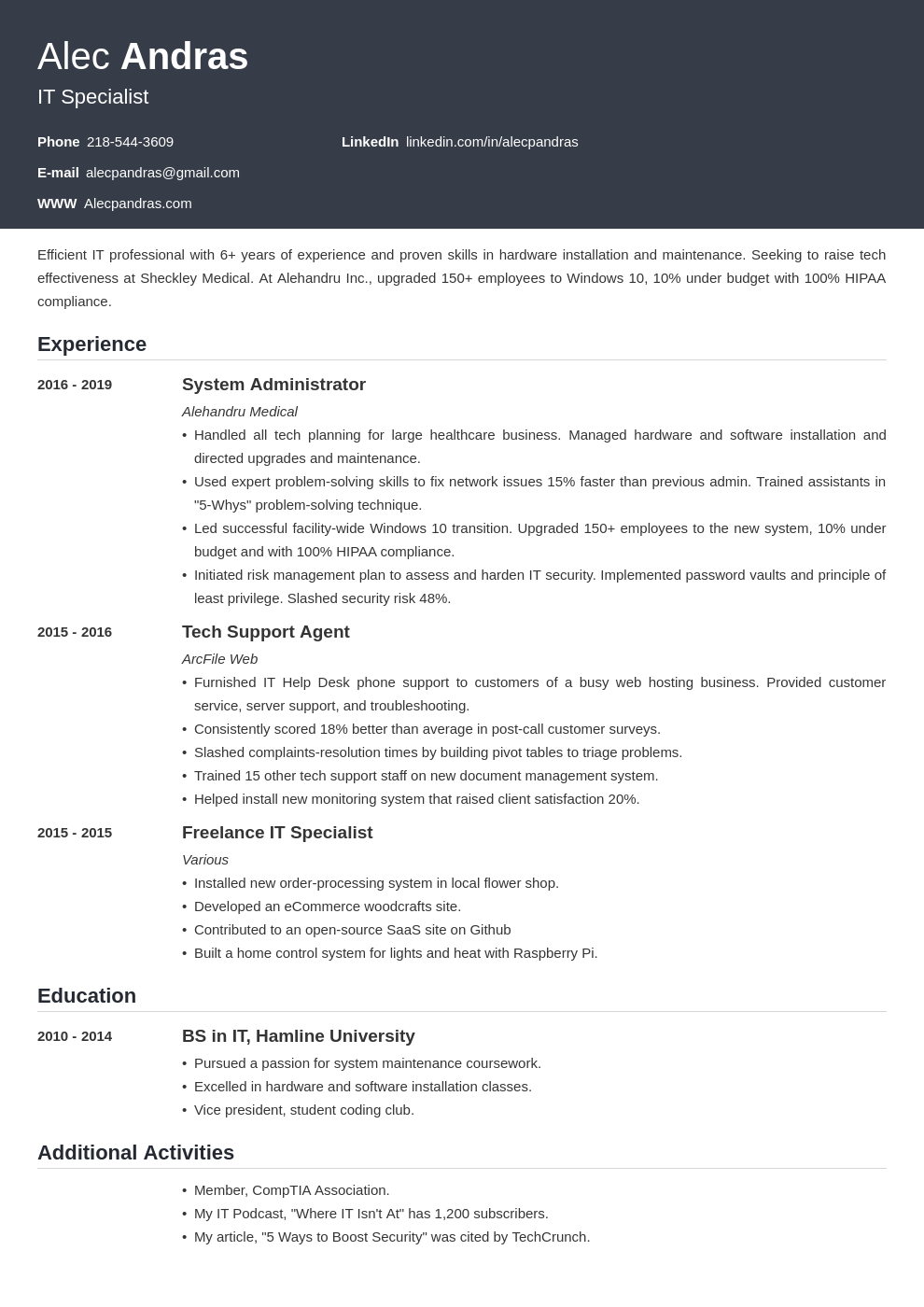 technical template influx uk