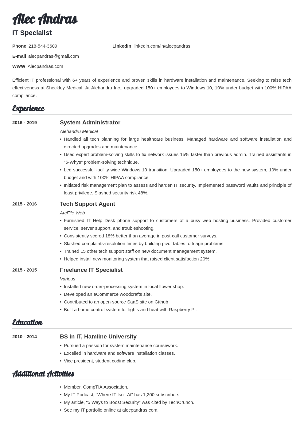 technical template valera uk