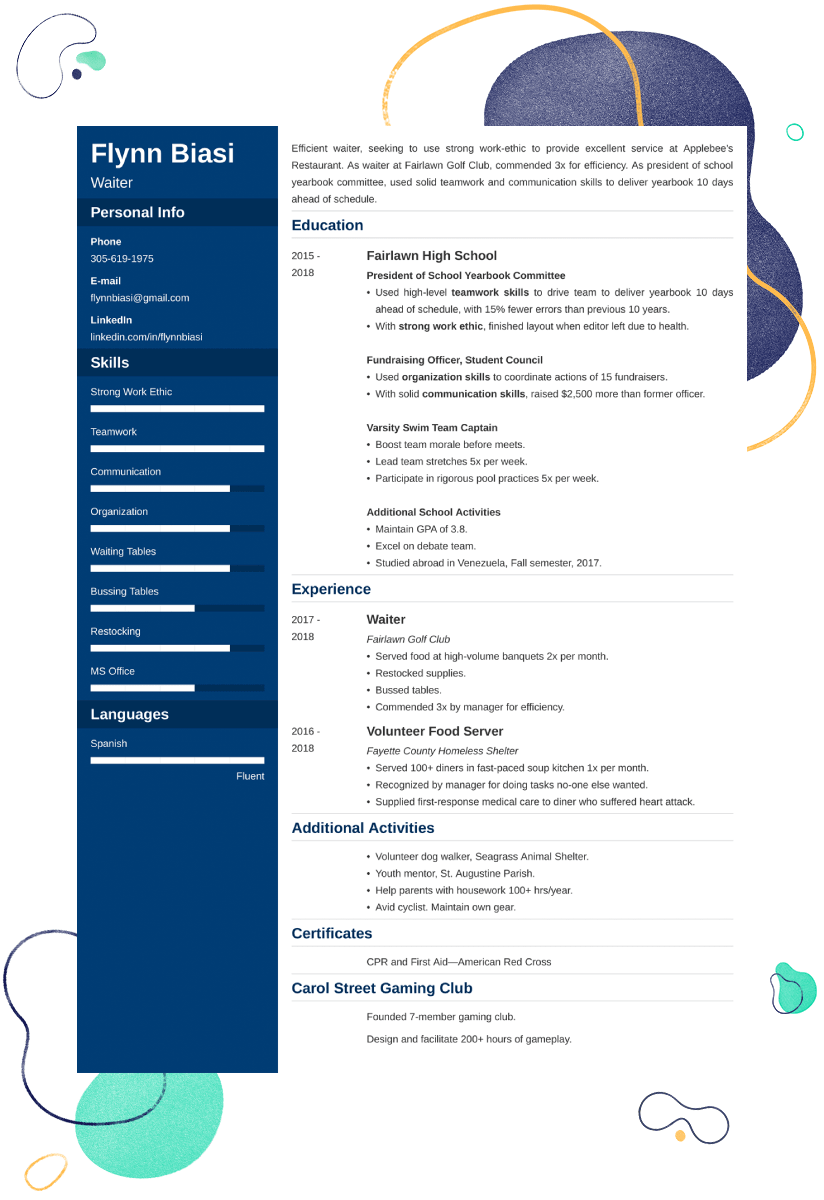 Resume Examples For Teens Template 25 Tips
