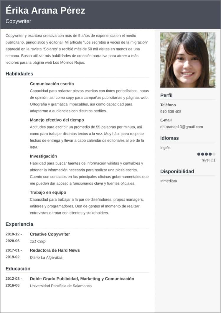 modelos de currículum