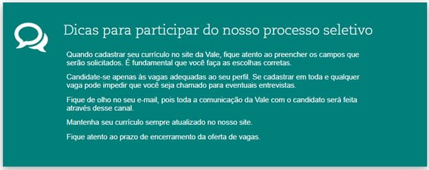 vale curriculo