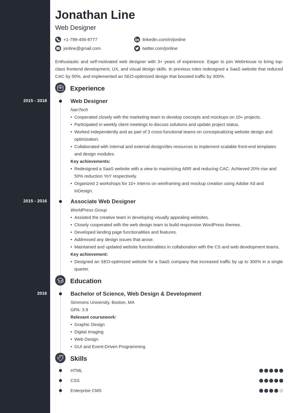 web designer template concept