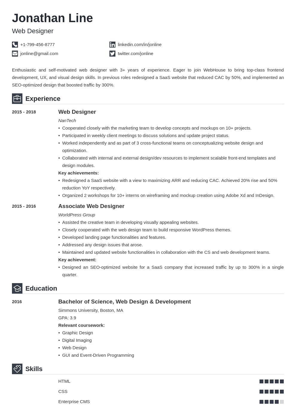 web designer template iconic