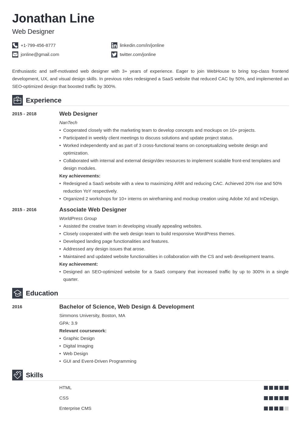 web designer template iconic uk