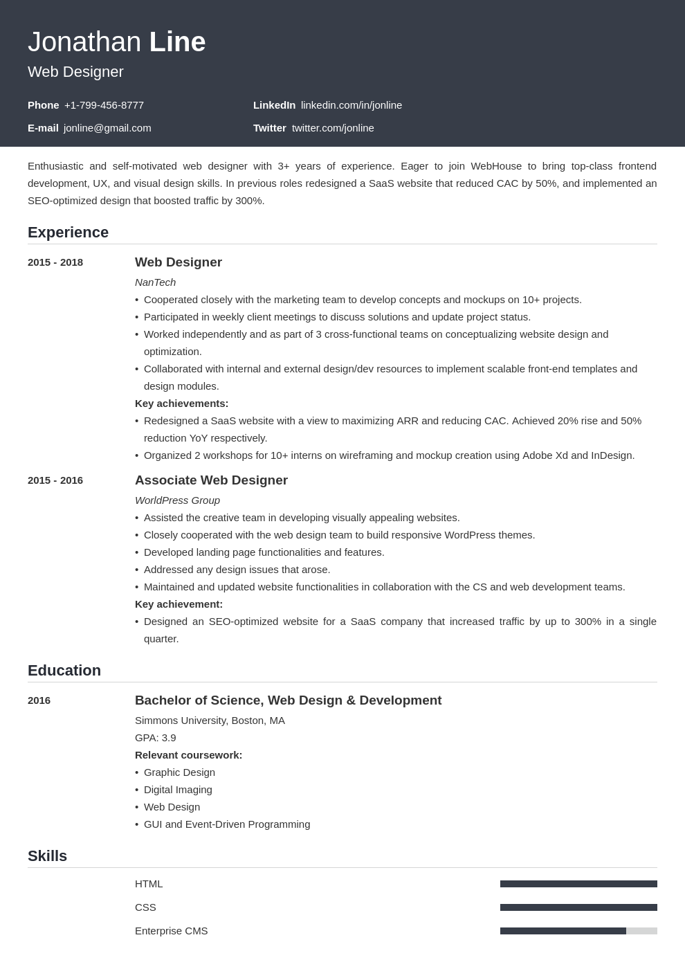 Web Designer Resume Examples 21 Tips Template Guide