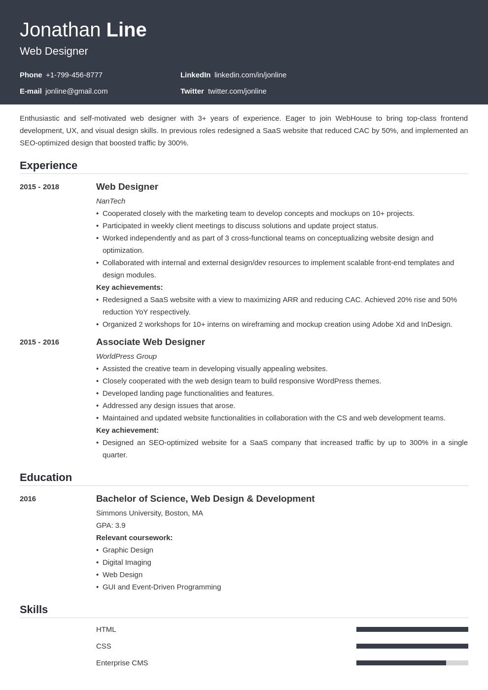 web designer template influx uk