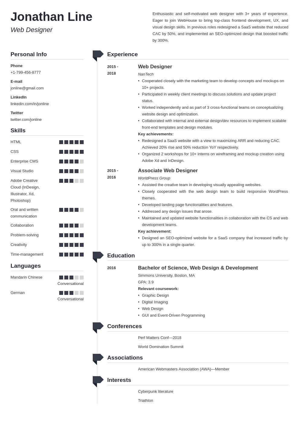 web designer template muse