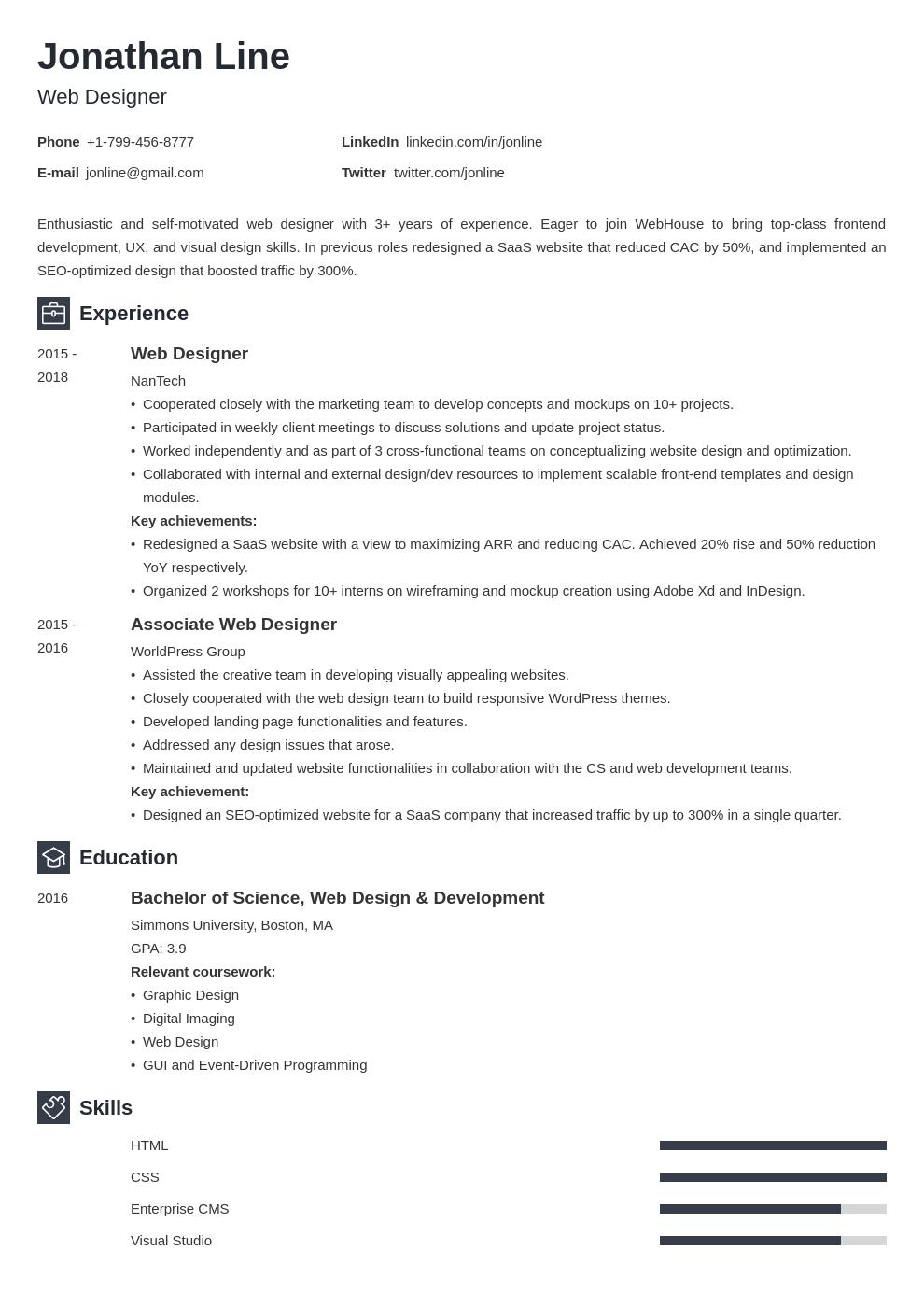 web designer template newcast