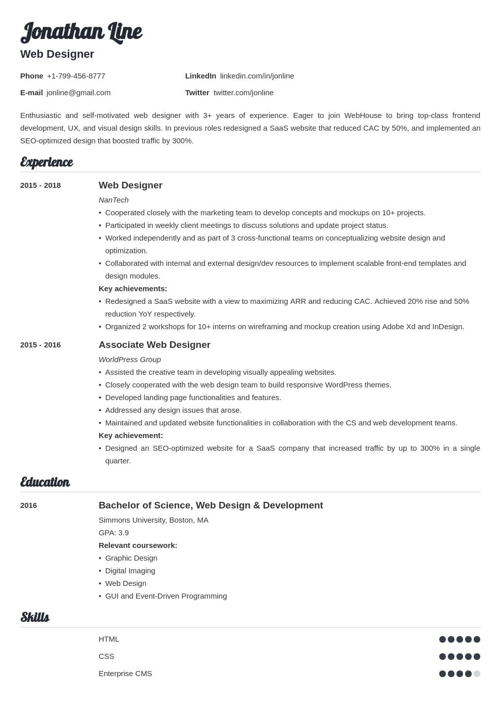 web designer template valera