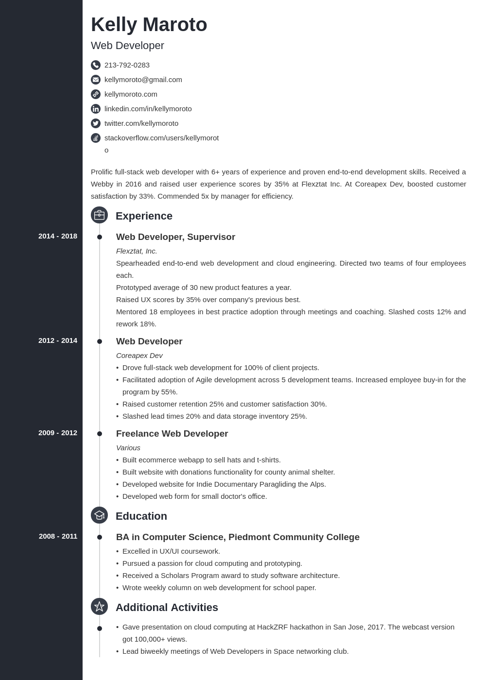 web developer template concept