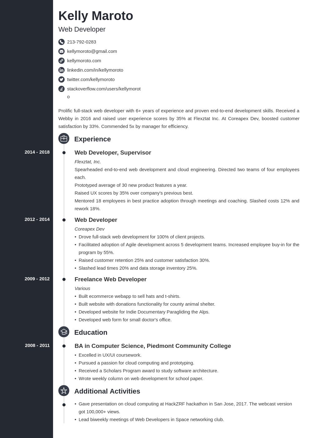 web developer template concept uk