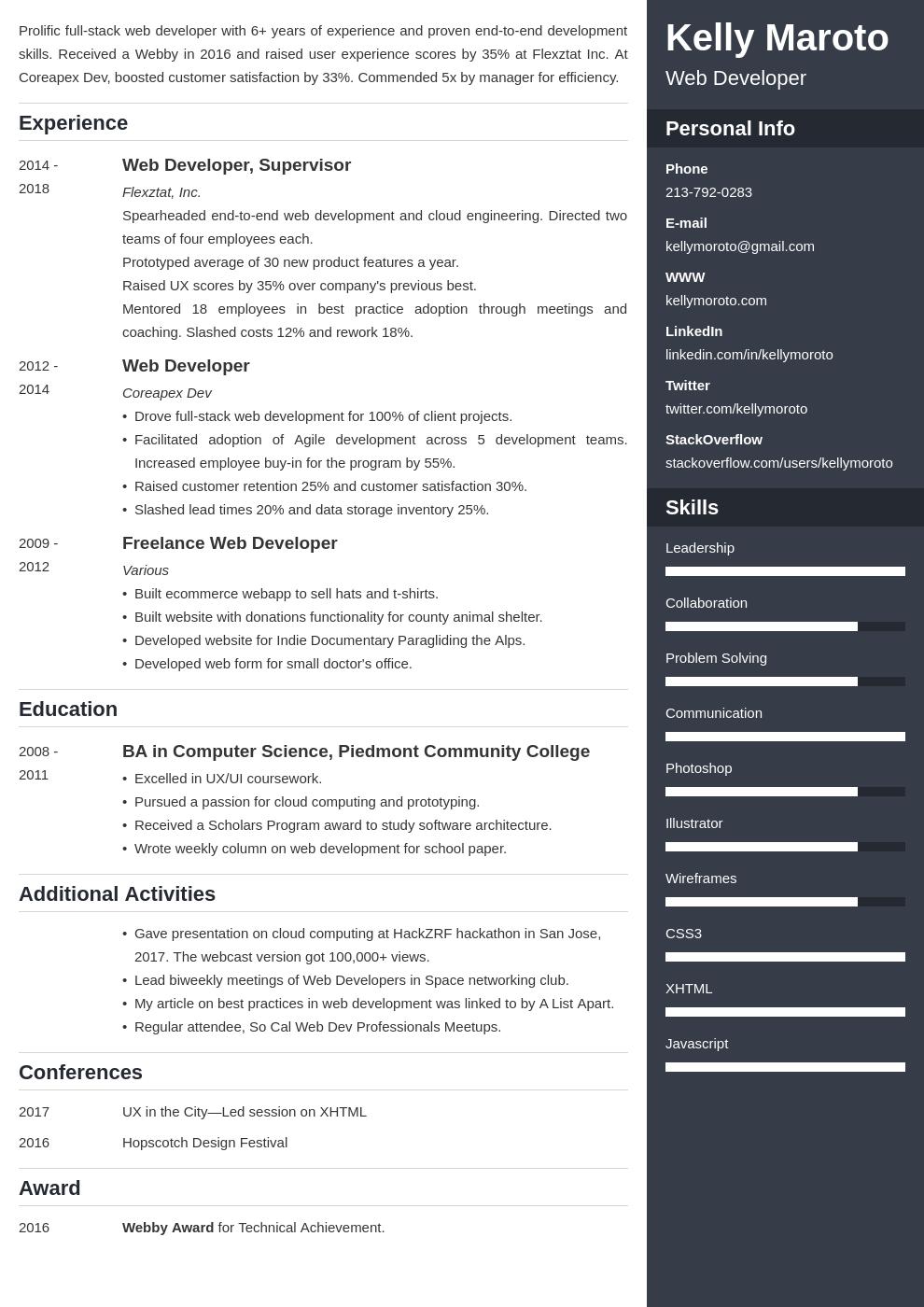 web developer template enfold uk