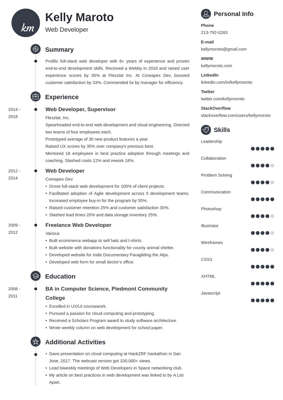 web developer template primo